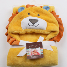 cute Animal shape baby hooded bathrobe bath towel baby fleece receiving blanket neonatal hold to be Children kids infant bathing(China)