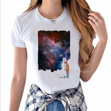 God of Brush Wall Worker Bright Stars Printed Short Sleeves Hillbilly New Listing Women's Clothing Street Casual O-Neck T-shirts(China)