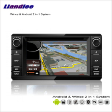 Liandlee Android Multimedia Stereo For Mitsubishi Outlander / ASX / Montero G2 Radio BT CD DVD Player GPS Navigation Audio Video(China)