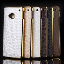 For HTC One M7 Case Hybrid Gold Plated Frame Football Skin Hard Plastic Back Cover For Sony M2 Z3 Mini M4 Phone Cases Moto G3
