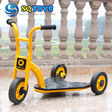 Indoor and Outdoor Yellow Kids Tricycle New Style Fitness Three  Wheels Pedal for  Safte Baby Triangle Scooter