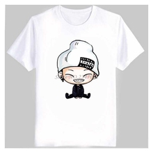 Men's Women's summer kpop t shirt ikon cute cartoon comic images print bobby B.I t shirt women plus size cotton t-shirt