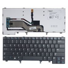 New Keyboard FOR DELL E6420 E5420 E5430 E6220 E6320 E6330 E6420 E6430 US  Laptop Keyboard Backlight With Mouse Pointer