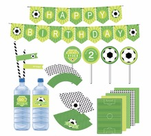 Children baby shower Creative football themed Birthday Bunting Happy Birthday Banner decorative Garland Birthday Party supplies