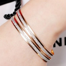 1pc. New Korean version of the fashion double ring matte exquisite hand jewelry wholesale woman's gift