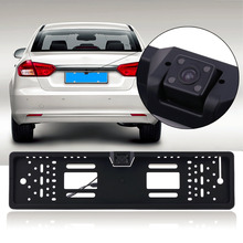 170 Degree HD Car License Plate Frame LED Auto Vehicle Reversing Rear View Backup Camera CCD Hanging Type Parking System(China)