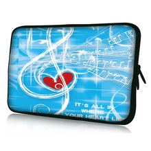 "Music Heart  7"" Sleeve Bag Cover Case Pouch For Samsung Galaxy Tab 2, 7.7"" P6800 P6810 Tablet"