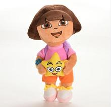 1pcs 25cm New Style So Lovely Dora The with Star Extra Large Plush Toys Doll Dora Baby Toy(China)