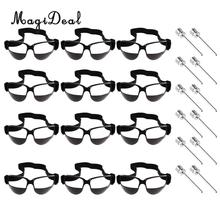 MagiDeal 12pcs Basketball Glasses Sports Eyewear Training + 12pcs Pump Needle(China)