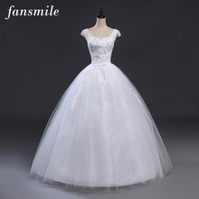Buy Fansmile Bridal Ball Gowns Plus Size Lace Wedding Dresses 2017 Double Shoulder Vintage Vestidos Noiva Robe de Mariee for $47.17 in AliExpress store