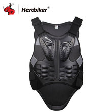 HEROBIKER Motocross Racing Armor Black Motorcycle Riding Body Protection Jacket With A Reflecting Strip Motorcycle Armor(China)