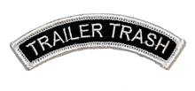 Trailer Trash Tab Music Band Embroidered Iron On Patch Tshirt TRANSFER MOTIF APPLIQUE Rock Punk Badge Jacket Shirt Pants Hats