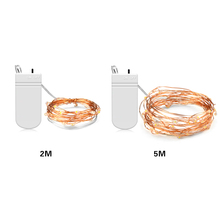 LED 2M 5M Copper Wire String Lights bulb lamp Fairy Strip lights for outdoor wedding holiday decoration battery opperated
