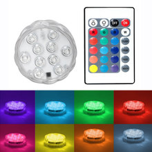 ITimo LED Underwater Light Float Lamp Wireless Remote Control Multi-color RGB 10 LED Waterproof Lamp Night Light Novelty