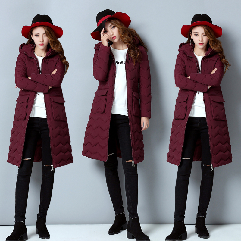 TNLNZHYN NEW winter Women clothing warm Cotton coat fashion Big yards Long sleeve Thicken long female Cotton Outerwear QQ326