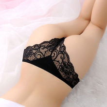 1PC Fashion Sexy Women Thongs G-string Lace Cutton Floral Sheer Underwear Soft Lingerie Briefs Panties