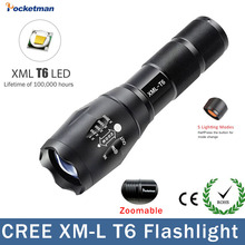 Big Promotion Ultra Bright CREE XM-L T6 LED Flashlight 5 Modes 4000 Lumens Zoomable LED Torch for AAA or 18650(China)