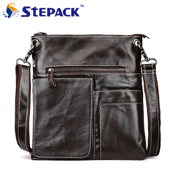 New Arrival Genuine Leather Bag For Men Vintage shoulder Bag Multifunction Mens Messsenger Bag Business Bag WMB0226<br>