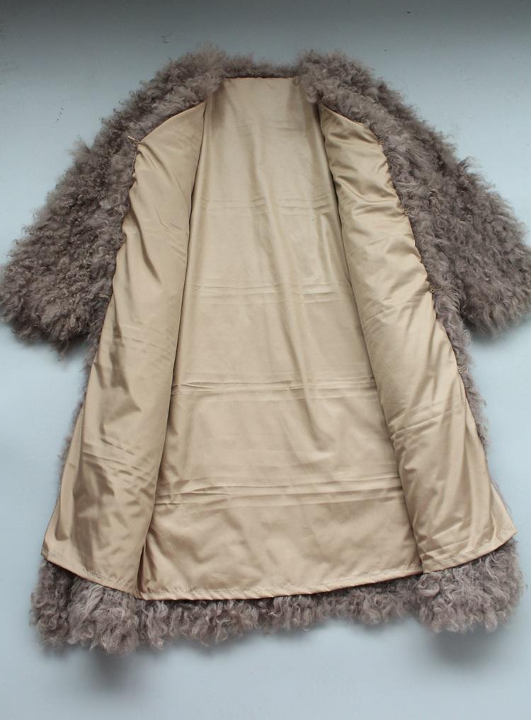 women natural lamb sheep fur coat (21)