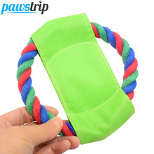 3 Size Outdoor Training Pet Dog Frisbee Flying Disc Durable Interactive Cotton Rope Dog Toys 12/18/22cm(China)