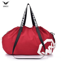 Large Big Capacity Holdall Outdoor Travel Handbag Canvas Gym Bag Yoga Mat Bag Drawstring Sports Bags Sporting Women Fitness Bag(China)