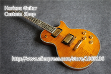 Beautiful Chinese OEM Electric Guitar Custom Flower Inlay Cut-away Mahogany Body In Stock
