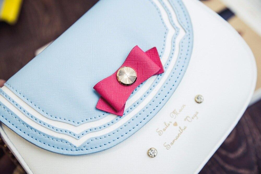 HOT!6 colors Sailor Moon Luna/Artemis Shoulder Bag Ladies Luna Cat Leather Handbag Women Messenger Crossbody Chain Small Bag<br><br>Aliexpress