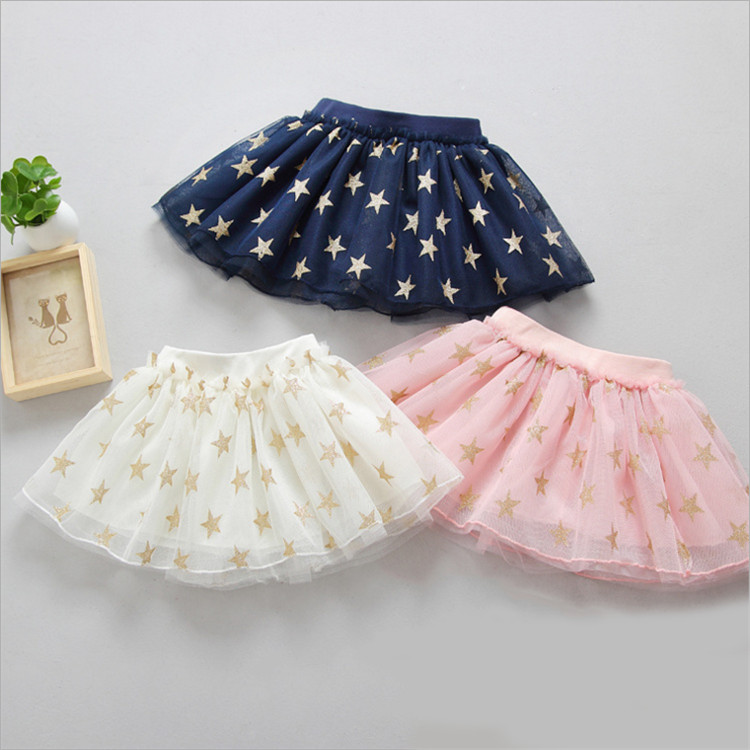 Fanfiluca New Baby Girl Clothes Tutu Skirt Ballerina Pentagram Children Ballet Skirts Party Dance Princess Girl Tulle Miniskirt001