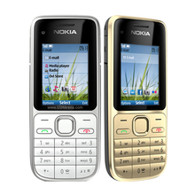 C2-01 Original Unlocked Nokia C2-01 1020mAh 3.15MP 3G Support Englihs/Russian/Hebrew/Arabic Keyboard / Cellphone Free Shipping(China)