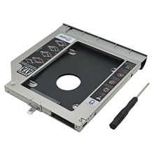 2nd HDD Caddy 9.5MM SATA III Double LED SSD HDD Case Customized for HP ProBook 440 445 450 455 470 G0 G1 G2 DVD-ROM Optical Bay