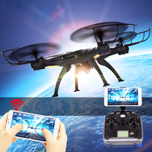 Wifi FPV X5SW RC Real-time Transmission Helicopter Aircraft Drone With Camera 2MP HD 2.4G RC Toys 4 CH 6 Axis Gyro Quadcopter(China)