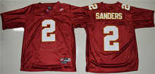 New Arrival High Quality Nike Nike Florida State Seminoles (FSU) Deion Sanders 2 College T-shirt Throwback Jersey - Red