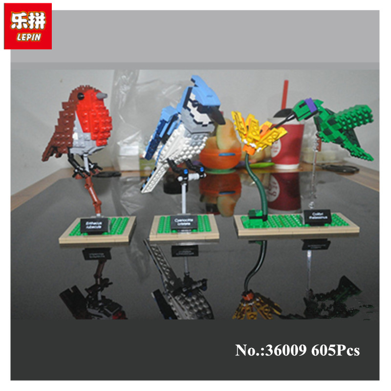 IN STOCK Lepin 36009 605Pcs Genuine Creative Series The Birds Set Children Educational Building Blocks BricksToys Model Gifts <br>