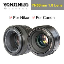 YONGNUO YN 50mm YN50mm F1.8 Lens Large Aperture AF/MF Auto Focus Fixed Lens for Canon EOS or Nikon DSLR Camera(China)