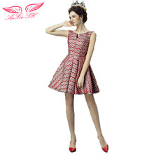 AnXin SH Bride  Red Cocktail Dresses red wine short Cocktail Dresses dinner Cocktail Dresses 9277 S