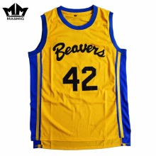 MM MASMIG Teen Wolf Scott Howard 42 Beacon Beavers Basketball Jersey Yellow For Free Shipping S M L XL XXL XXXL(China)