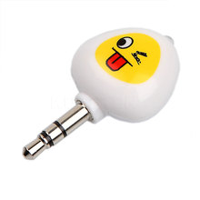 Newest Arrival Smile Face Cartoon Mobile Phone Smart Remote Control dust proof plug For 5s 6splus Android Air Conditioner TV DVD