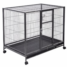 Heavy Duty Black 42'' Dog Crate Cage Kennel Metal Wire Pet Playpen w/ Tray New PS5803(China)