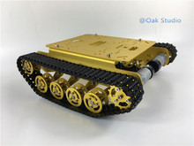 Shock Absorber Tank TS100,Alloy Chassis/Frame with robotic arm interface holes for modification, DIY, tank model,study project