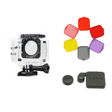 3 in 1 SJcam Accessories SJ4000 waterproof case lens cap cover + Diving filter cover for Sj4000 SJ4000 wifi camera