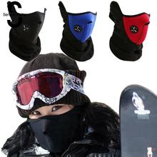 Senza Fretta Windproof Face Mask Motorcycle Bicycle Scarf Gauze Mask Thermal Neck Warmers Fleece Balaclavas Hat Headpiece D01811