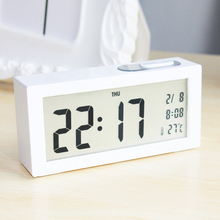 YOHAPP Brand Modern Large-Display Backlight Digital Alarm Clock Light Sensing Electronic Desk Table Alarm Clock Led Clock(China)