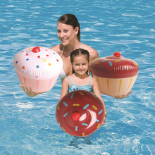 Inflatable Kids Cake Pool Floats Air Mattress Swimming Ride-on Buoy Beach Toys Water Boat Raft Floating Island Summer Party Fun