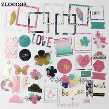 ZLDECOR 70pc Never Give Up Colorful Cardstock Die Cuts for Scrapbooking Happy Planner/Card Making/Journaling Project DIY