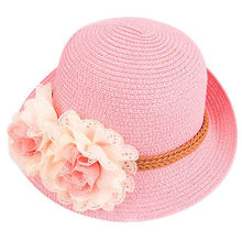 Toddlers Infants Baby Girls Flower Summer Straw Sun Beach Hat Cap New Hot Fashion Casual(China)