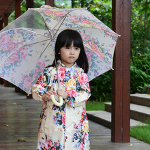 Fashion spring and autumn baby raincoat flower female child raincoat poncho children's clothing rain gear(China)