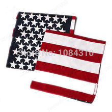 1 PC hot New Fashion Unisex US Flag Scarves Bandanas Hip-hop Dance Travel Head Scarf