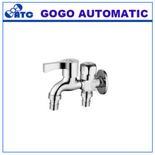 high quality Copper Washing Machine Bathroom Faucet Bibcock Valve Wall Double Brass faucet three-way connection angle valve(China)