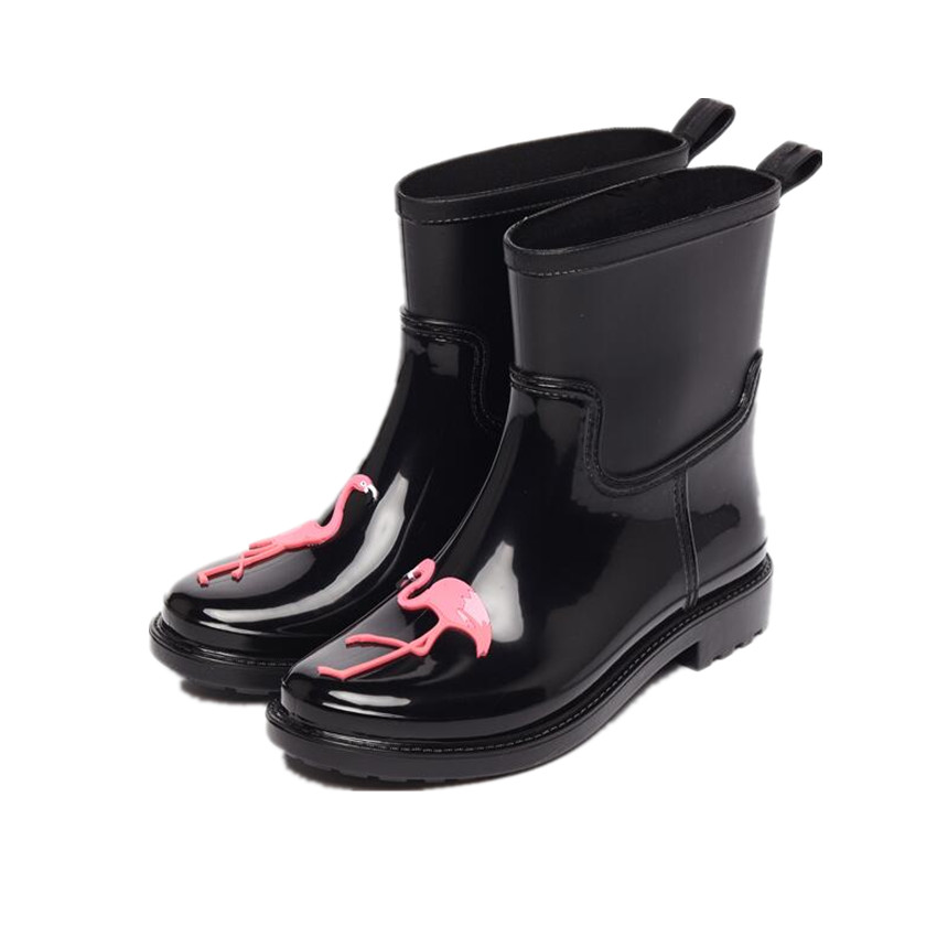 Tongpu New arrival Ankle Women Rain Boots with Cute Animal Waterproof Footwear 220-135<br>