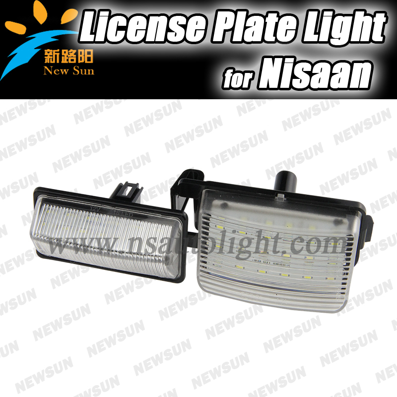 Factory wholesale 2016 new led license plate light for Nissan number plate lamps 12V 3528SMD rear license plate light error free<br><br>Aliexpress